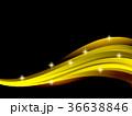 光 背景 ウェーブのイラスト 36638846
