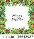 クリスマス フレーム あいさつのイラスト 36642927