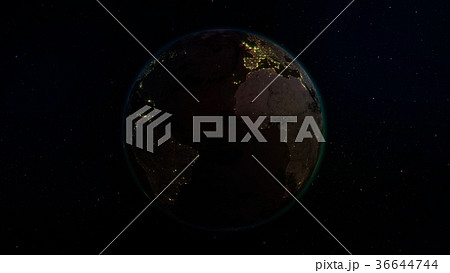 3D rendering planet Earth from space 36644744