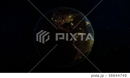 3D rendering planet Earth from space 36644749