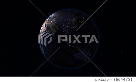 3D rendering planet Earth from space 36644751