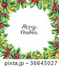 クリスマス フレーム あいさつのイラスト 36645027