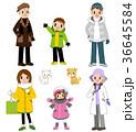 家族 冬 人物のイラスト 36645584