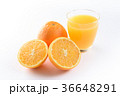ネーブルオレンジとオレンジジュース 36648291