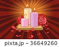 ろうそく バラ 花びらのイラスト 36649260