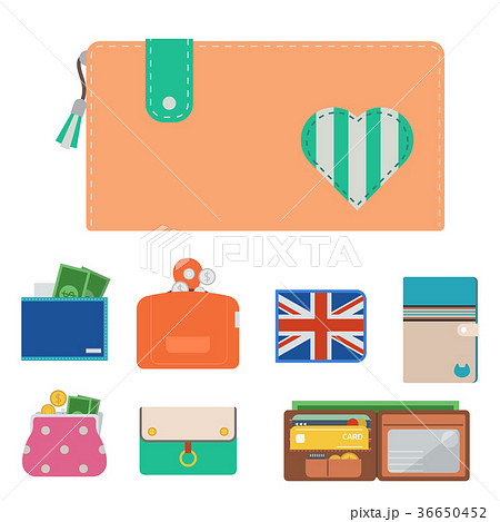 Purse wallet vector money shopping buy business 36650452