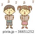 男の子と女の子 合唱 36651252