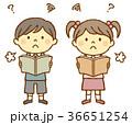 男の子 女の子 難読のイラスト 36651254