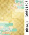 桜 背景素材 金箔のイラスト 36654808