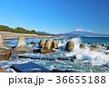 青空の海とテトラポット そして富士山 36655188