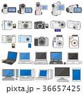 様々な電化製品のイラスト / PC&カメラ 36657425