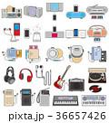 様々な電化製品のイラスト / 音楽 36657426