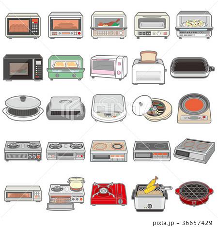 様々な電化製品のイラスト / キッチン 36657429