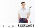 ゴルフ ゴルファー 女性の写真 36658054