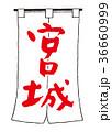 宮城 筆文字 文字のイラスト 36660999