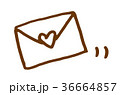 封筒ハート 36664857