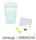 薬 錠剤 粉薬のイラスト 36666244