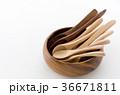 木のスプーンいろいろと木の器 36671811