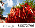 上海近郊の水郷、七宝の魔除けの赤い布 36672796