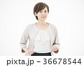 女性 ビジネスウーマン 白バックの写真 36678544