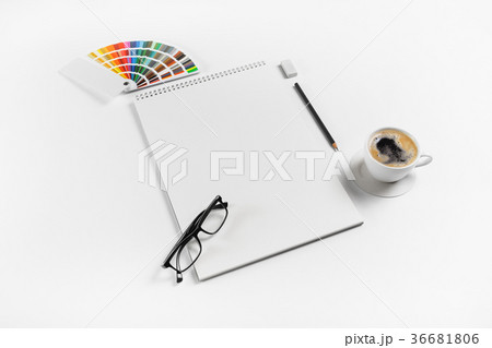 Notebook and stationeryの写真素材 [36681806] - PIXTA