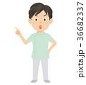 介護士 介護福祉士 男性 イラスト 36682337