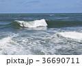 荒波 日本海 白波の写真 36690711