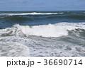 荒波 日本海 白波の写真 36690714