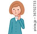 女性 人物 聞くのイラスト 36702733