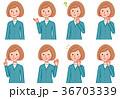 女性 感情 表情のイラスト 36703339