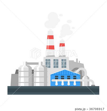 illustration of industrial plant. 36706917