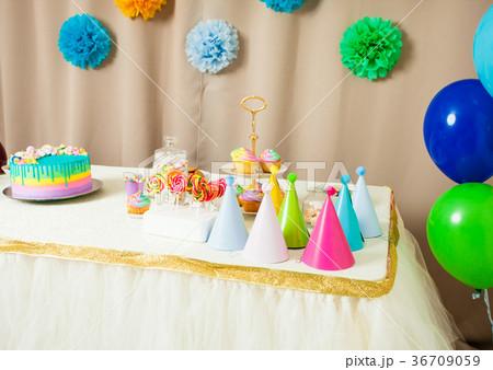 Happy Birthday decorationの写真素材 [36709059] - PIXTA