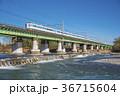 中央線 列車 多摩川の写真 36715604