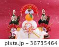 鏡餅 門松 正月イメージの写真 36735464