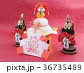 鏡餅 門松 正月イメージの写真 36735489
