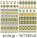 ノルディック柄 冬 模様編みのイラスト 36736918