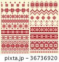 ノルディック柄 冬 模様編みのイラスト 36736920