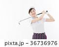 ゴルフ ゴルファー 女性の写真 36736976