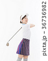 ゴルフ ゴルファー 女性の写真 36736982