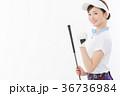 ゴルフ 女性 人物の写真 36736984