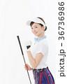 ゴルフ 女性 人物の写真 36736986