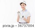 ゴルフ 女性 人物の写真 36737004