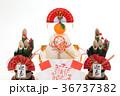鏡餅 門松 正月イメージの写真 36737382