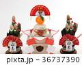 鏡餅 門松 正月イメージの写真 36737390