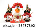 鏡餅 門松 正月イメージの写真 36737392
