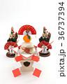 鏡餅 門松 正月イメージの写真 36737394