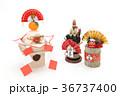 鏡餅 門松 正月イメージの写真 36737400