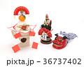 鏡餅 門松 正月イメージの写真 36737402