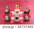 鏡餅 門松 正月イメージの写真 36737469