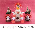 鏡餅 門松 正月イメージの写真 36737470